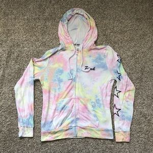 PINK Victoria's Secret Tie Dye Light Hoodie